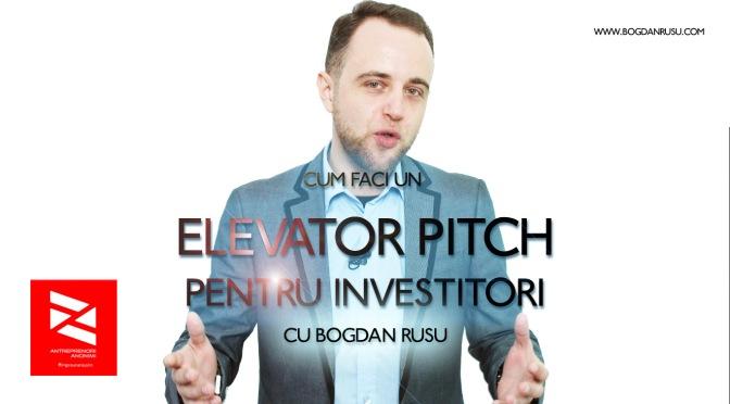 Cum te prezinti in fata investitorilor? – VIDEO –